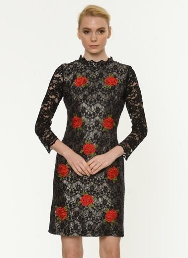Çiçek Desenli Dantel Elbise-Jus De Pommes